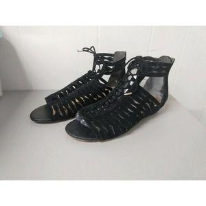 Sam Edelman WM 7 Black Suede Gladiator Sandal